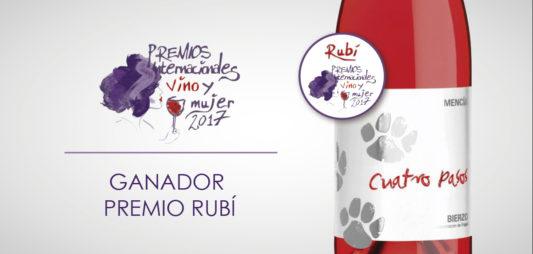 Cuatro Pasos Rosado, Rubí en el Concurso Internacional Vino y Mujer