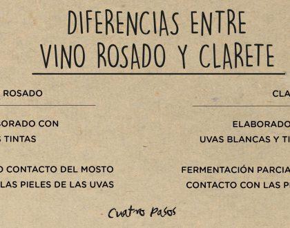 Principales diferencias entre el vino rosado y clarete