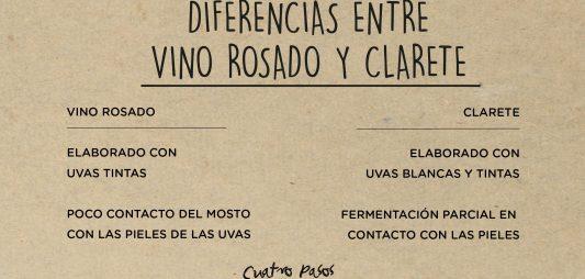 (Español) Principales diferencias entre el vino rosado y clarete